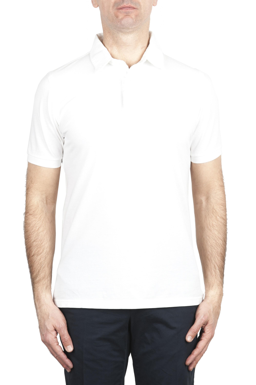 SBU 02043_2020SS Polo de piqué blanca de manga corta 01