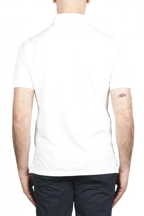 SBU 02043_2020SS Short sleeve white pique polo shirt  01