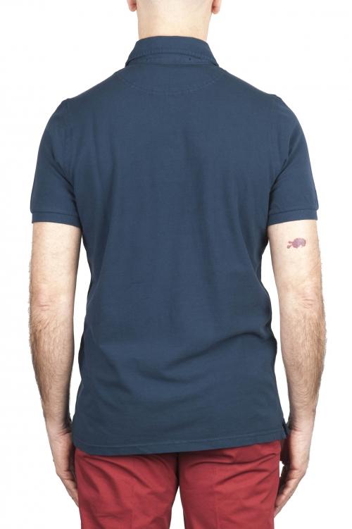SBU 02044_2020SS 半袖ブルーピケポロシャツ 01