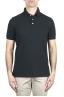 SBU 02045_2020SS Short sleeve black pique polo shirt  01