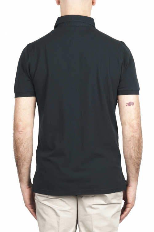 SBU 02045_2020SS 半袖黒ピケポロシャツ 01
