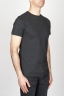 SBU - Strategic Business Unit - Classic Short Sleeve Flamed Cotton Round Neck Black T-Shirt