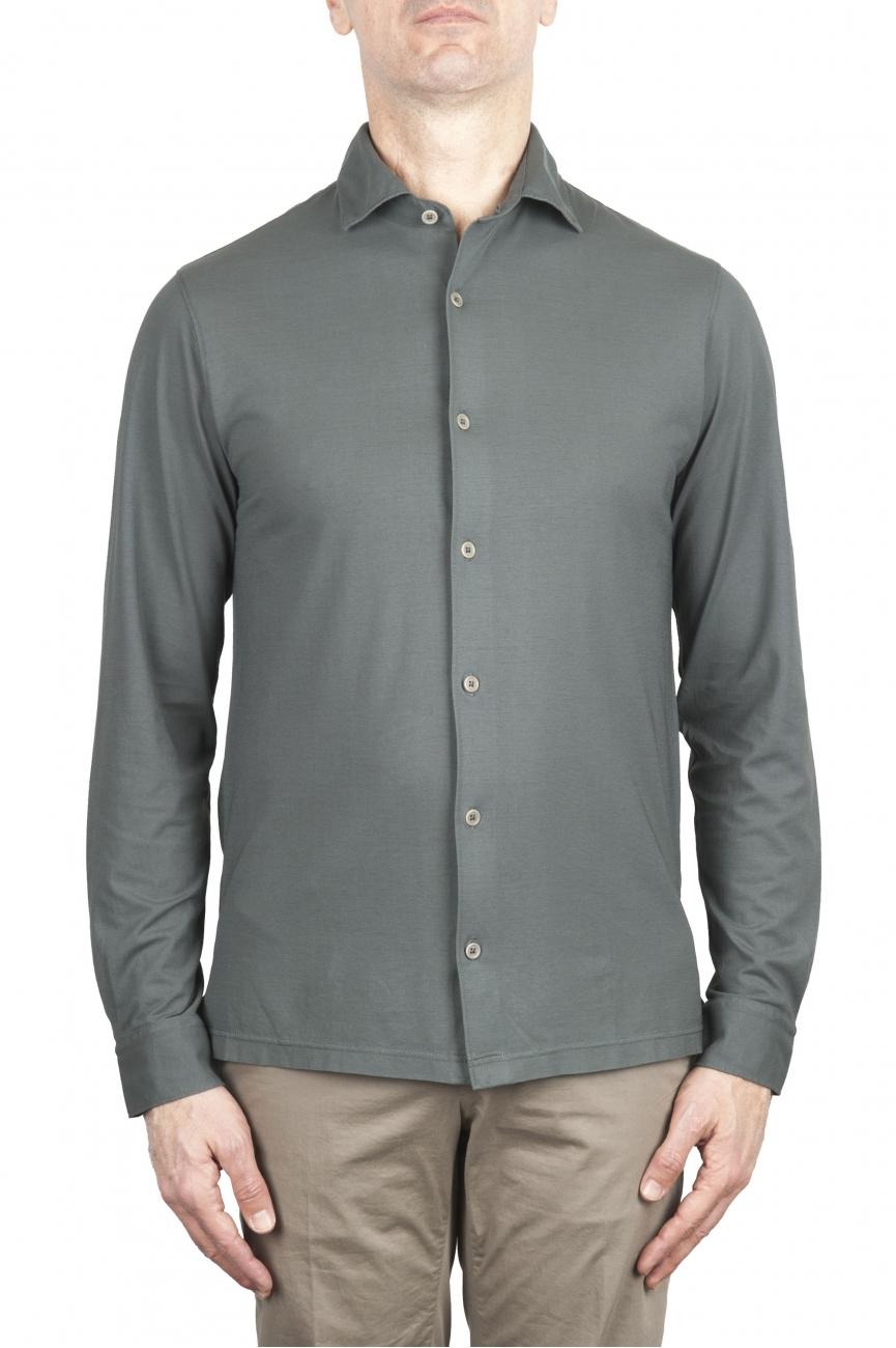 SBU 02049_2020SS Camicia in crepe di cotone ultraleggero grigia 01