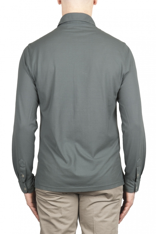 SBU 02049_2020SS Camisa de crepé ligera de algodón gris 01