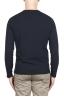 SBU 02068_2020SS Jersey tubular de algodón azul con cuello redondo 05