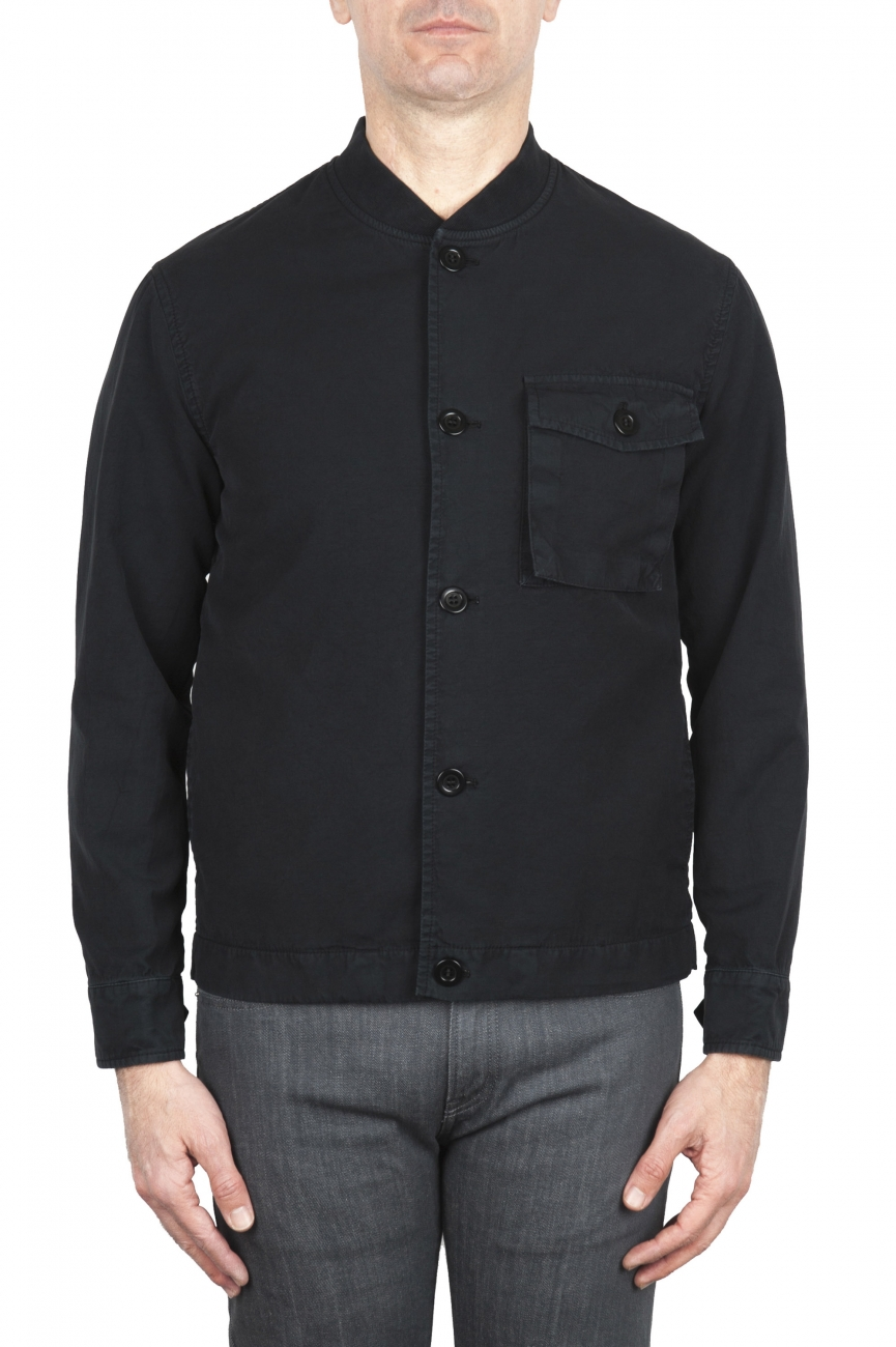 SBU 02073_2020SS Unlined bomber jacket in black cotton 01