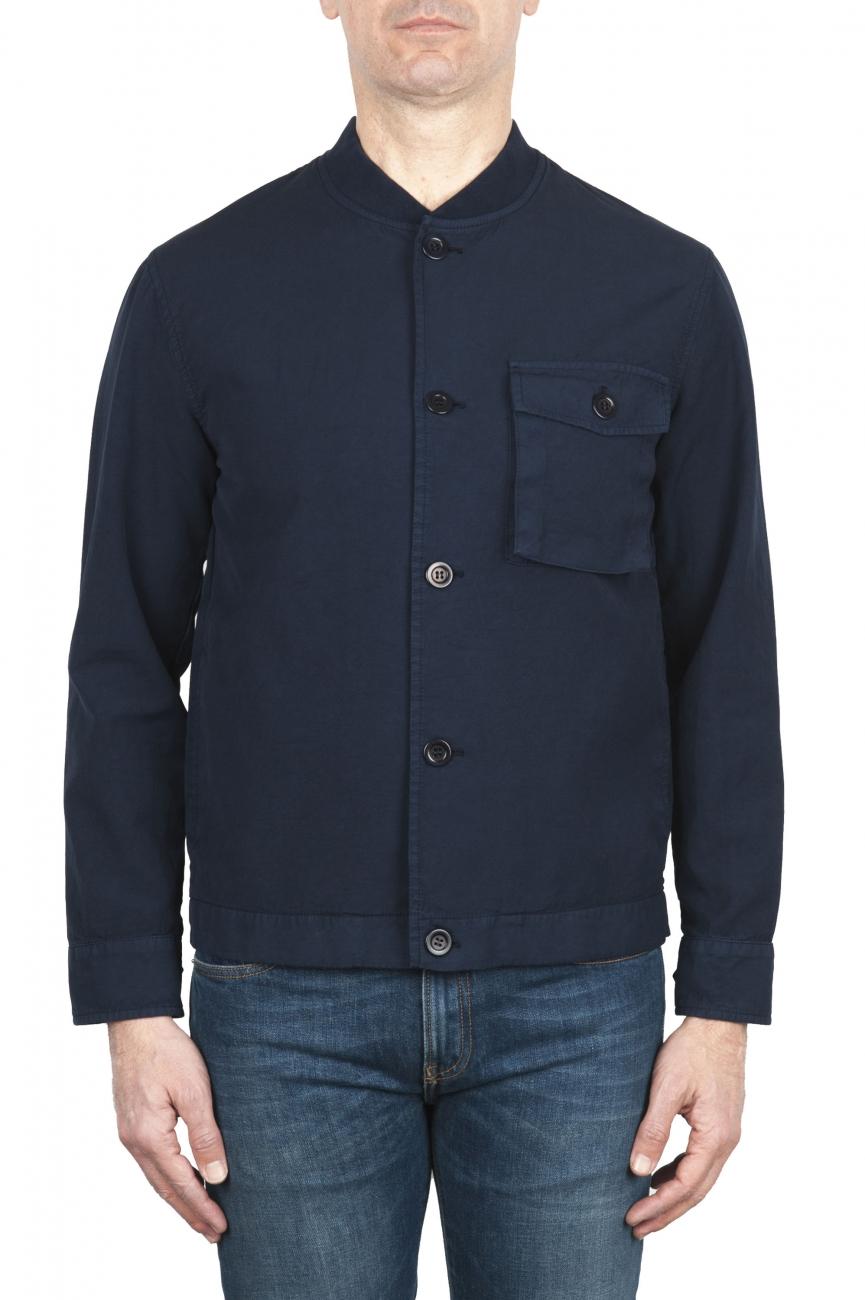 SBU 02074_2020SS Unlined bomber jacket in blue cotton 01