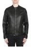 SBU 02075_2020SS Black leather motorcycle jacket 01