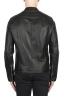 SBU 02075_2020SS Black leather motorcycle jacket 05