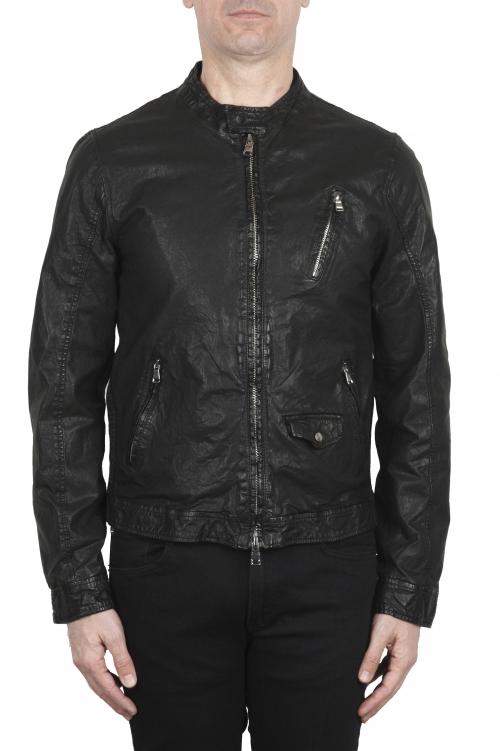 SBU 02076_2020SS Dark brown suede leather jacket 01