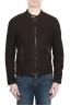SBU 02079_2020SS Dark brown suede leather jacket 01