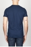 SBU - Strategic Business Unit - T-Shirt Girocollo Classica A Maniche Corte In Cotone Fiammato Blue