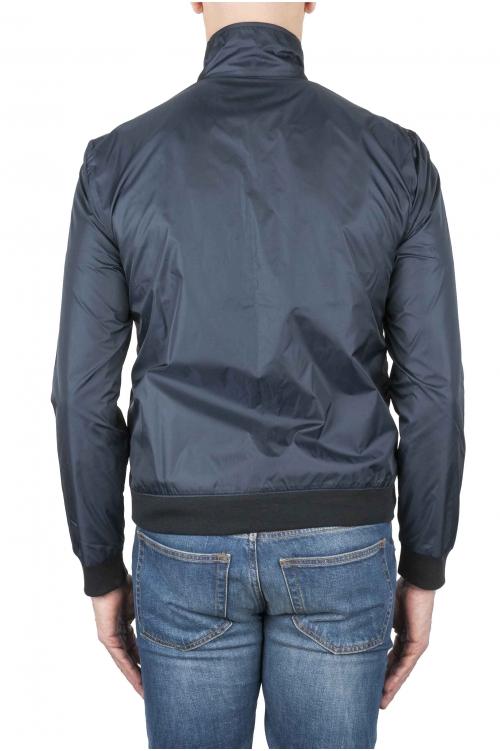 SBU 02084_2020SS Windbreaker bomber jacket in blue ultra-lightweight nylon 01