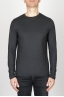 SBU - Strategic Business Unit - Classic Long Sleeve Flamed Cotton Round Neck Black T-Shirt