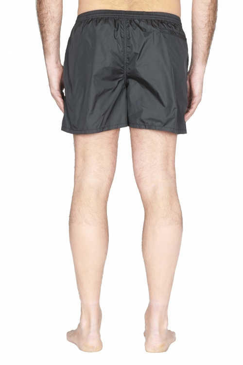 SBU 01753_2020SS Tactical swimsuit trunks in black ultra-lightweight nylon 01