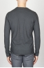 Classic Long Sleeve Flamed Cotton Round Neck Grey T-Shirt
