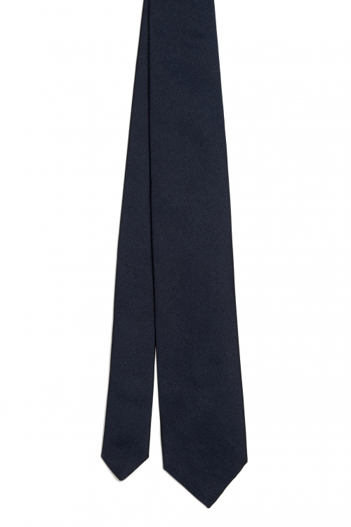 SBU 01572_2020SS 黒い絹の古典的な痩せた指のネクタイ 01
