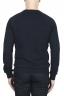 SBU 01795_2020SS Hand printed crewneck navy blue sweatshirt 04