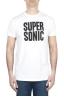 SBU 01800_2020SS T-shirt blanc à col rond imprimé à la main 01