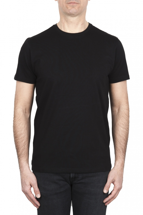 SBU 01786_2020SS Camiseta negra con cuello redondo estampado aniversario 25 años 04