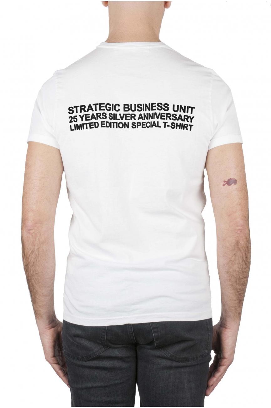 SBU 01787_2020SS T-shirt girocollo bianca stampa anniversario 25 anni SBU 04