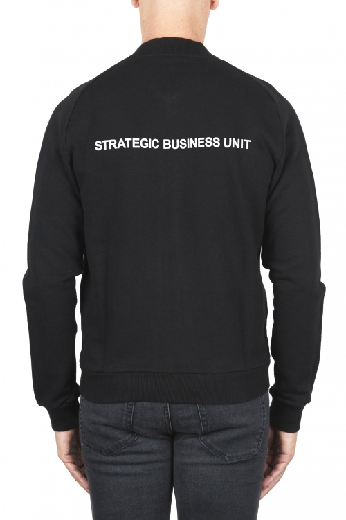 SBU 01463_2020SS Black cotton jersey bomber sweatshirt 04