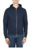 SBU 01464_2020SS Felpa con cappuccio in jersey di cotone blu 01