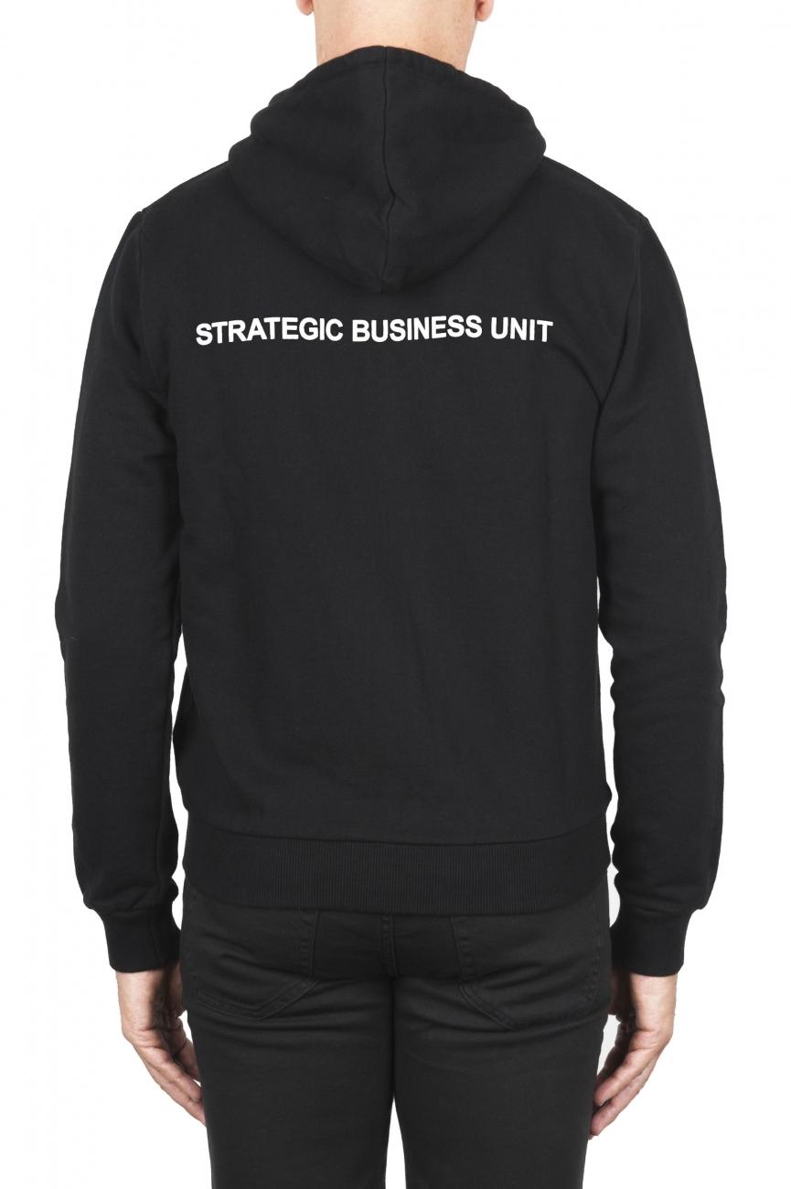 SBU 01465_2020SS Sweat à capuche en jersey de coton noir 04