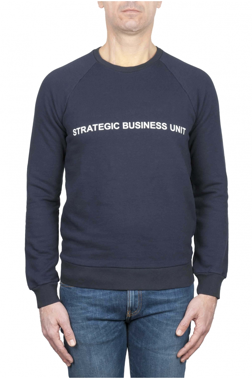 SBU 01466_2020SS Strategic Business Unit logo printed crewneck sweatshirt 01