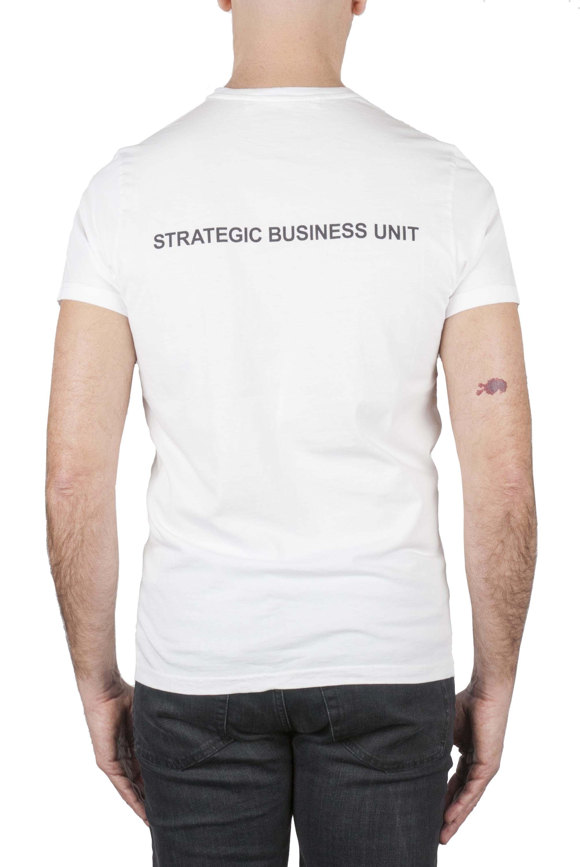 SBU 01162_2020SS Shirt classique blanc col rond manches courtes en coton 04