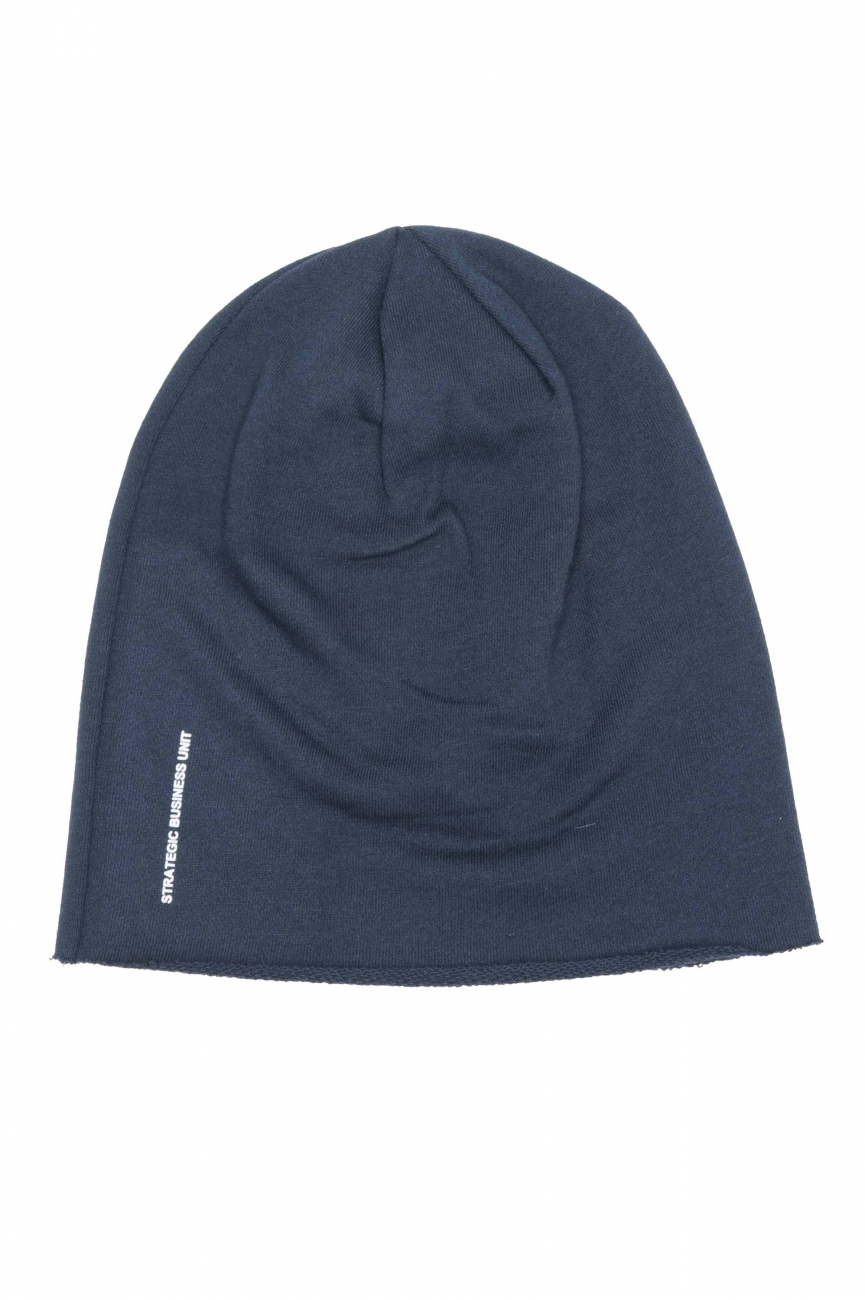 SBU 01190_2020SS Classic sharp cut blue jersey bonnet 01