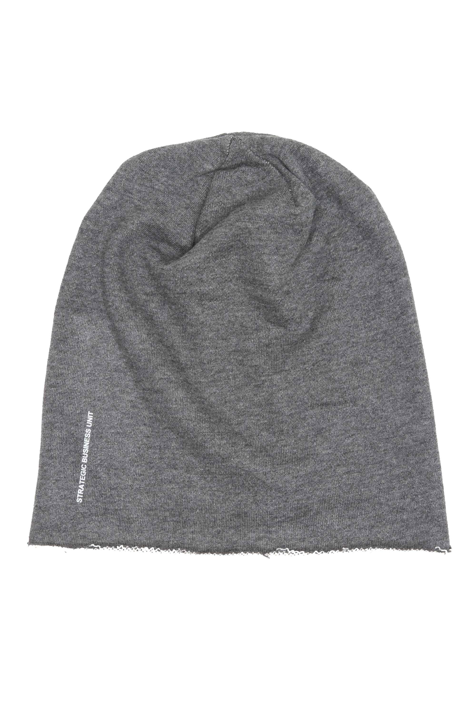 SBU 01191_2020SS Classic sharp cut grey jersey bonnet 01