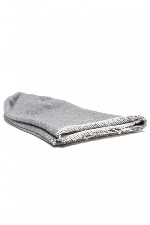 SBU 01191_2020SS Bonnet en laine classique de coupe en pointe gris 01