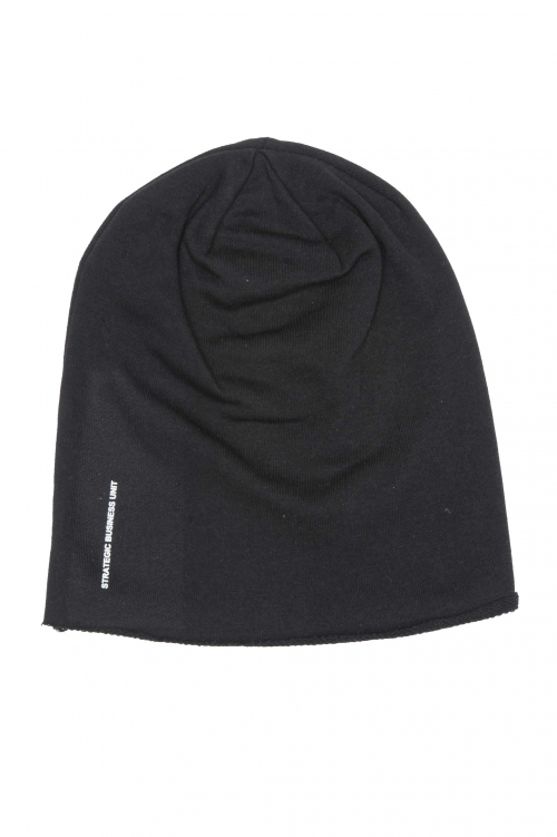 SBU 01192_2020SS Classic sharp cut black jersey bonnet 01