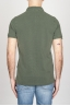 SBU - Strategic Business Unit - 古典的な半袖ストーンは緑色のピケのポロシャツを洗った