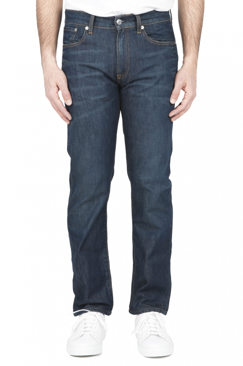 SBU 01448_2020SS Stone washed organic cotton denim blue jean 01