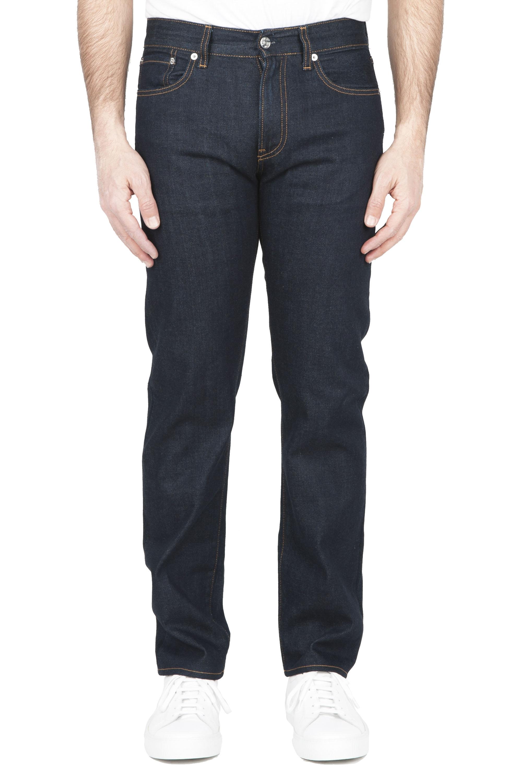 SBU 01449_2020SS Pantalones vaqueros azules de Denim japonés lavados teñidos añil natural 01