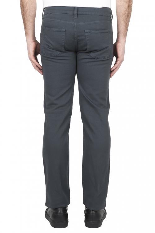 SBU 01667_2020SS Pantalones vaqueros de algodón denim elástico gris overdyed prelavado 01