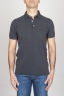Classic Short Sleeve Stone Washed Blue Pique Polo Shirt