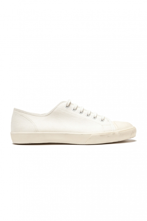 SBU 01531_2020SS Classic lace up sneakers in in white cotton canvas 01