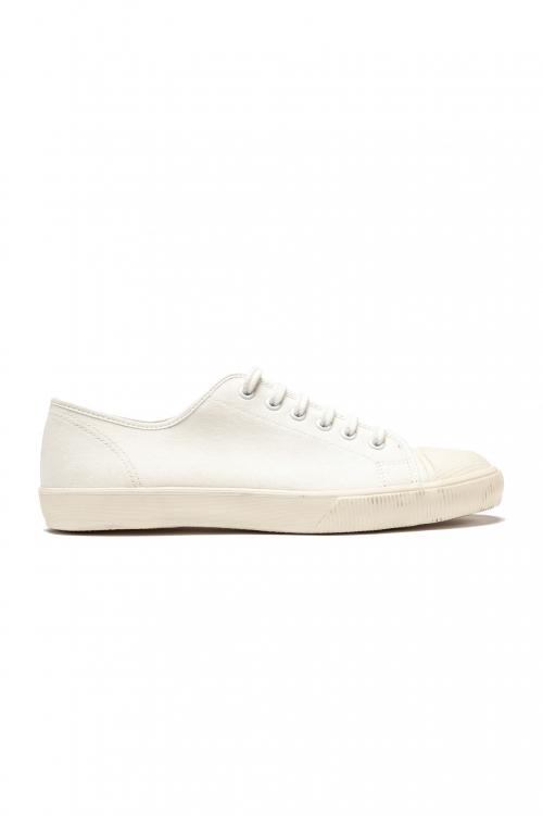 SBU 01531_2020SS Zapatillas clásicas con cordones en lona de algodón blancas 01