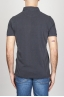 Classic Short Sleeve Stone Washed Blue Pique Polo Shirt