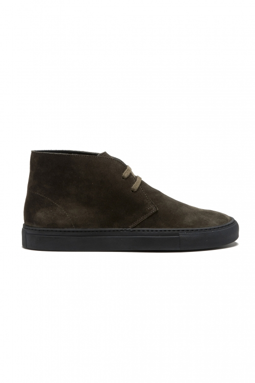 SBU 01519_2020SS Chukka boots in green suede calfskin leather 01