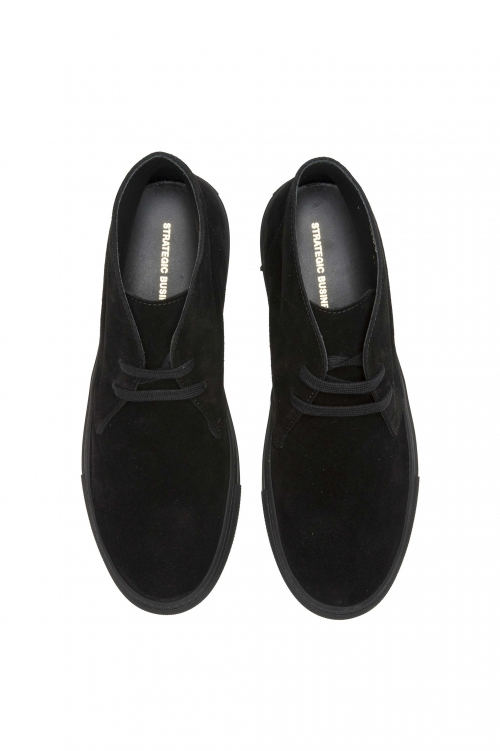 SBU 01520_2020SS Chukka boots in black suede calfskin leather 01