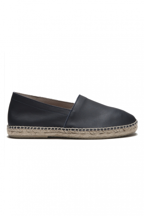 SBU 01704_2020SS Original blue leather espadrilles with rubber sole 01