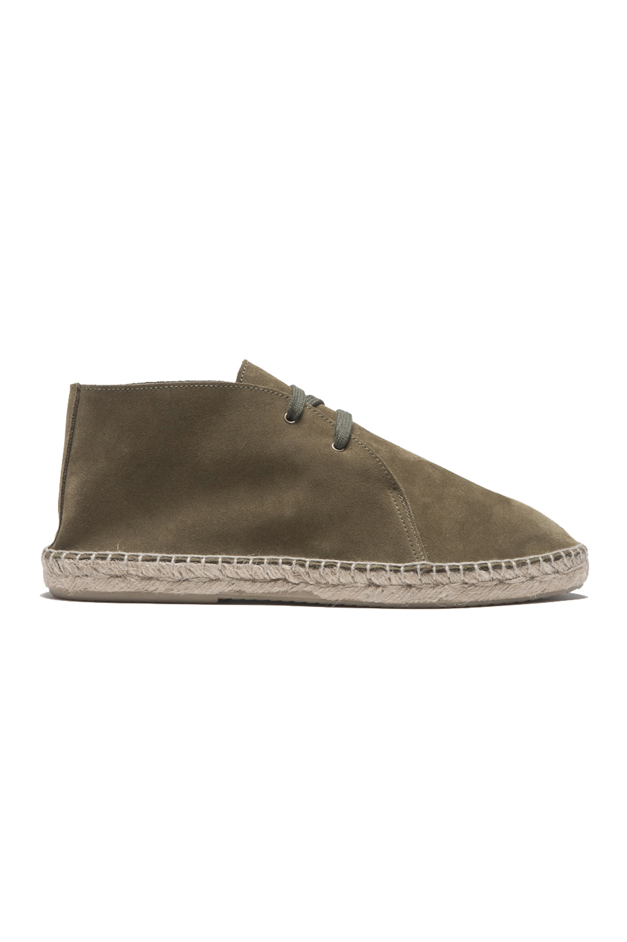 SBU 01706_2020SS Original green suede leather lace up espadrilles with rubber sole 01