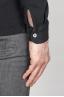 Classic Long Sleeve Stone Washed Black Pique Polo Shirt