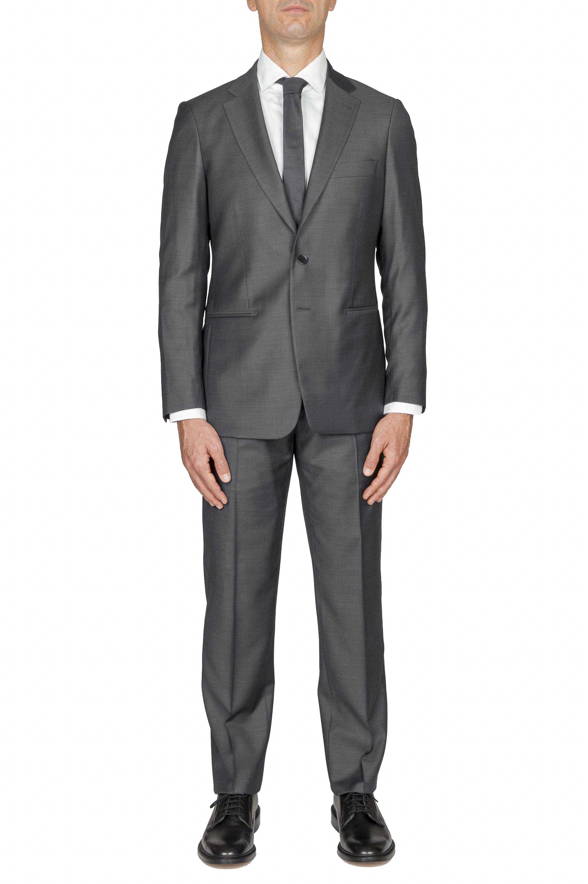 SBU 01051_2020SS Men's grey cool wool formal suit blazer and trouser 01
