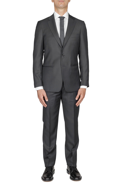 SBU 01054_2020SS Abito grigio in fresco lana completo giacca e pantalone occhio di pernice 01