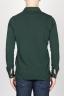 SBU - Strategic Business Unit - Classic Long Sleeve Stone Washed Dark Green Pique Polo Shirt